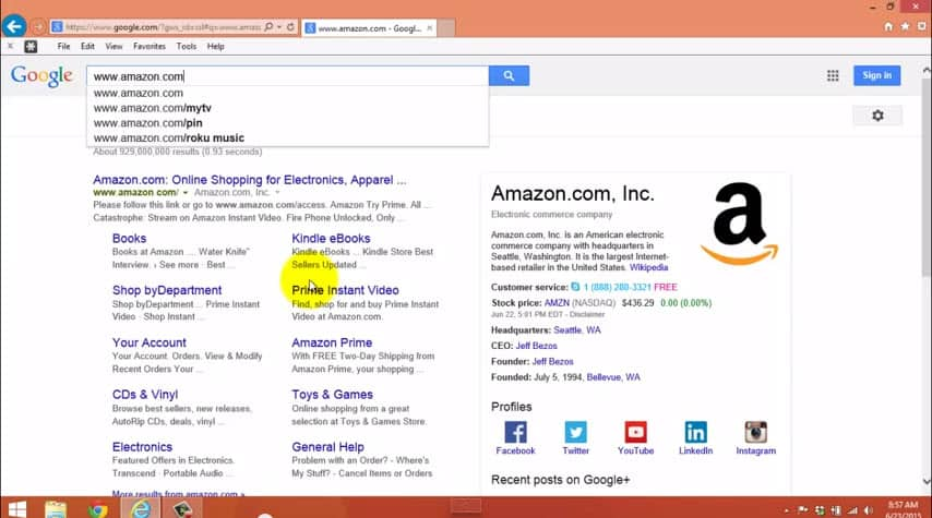 The difference between your Internet browser's search bar and