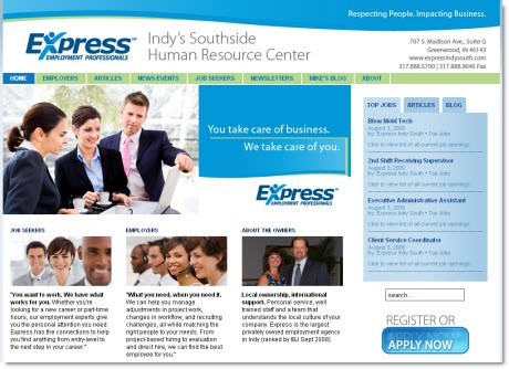 Express and Quick-Start Perfect Match for New Web Site