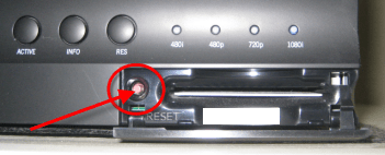 DIRECTV DVR reset button