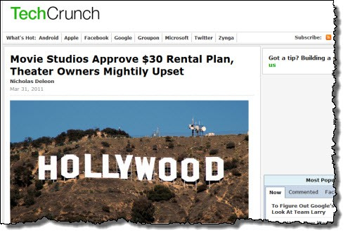 Movie Studios Approve $30 Rental Plan, Theater Owners Mightily Upset