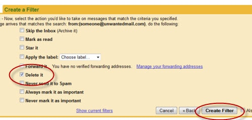 how to stop receiving junk mail on gmail
