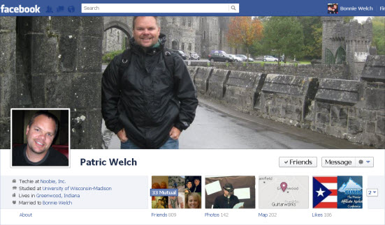 Patric Welch Facebook cover image