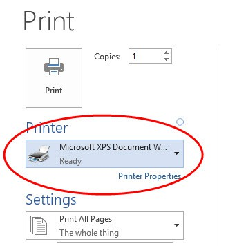 How to set your default printer in Windows
