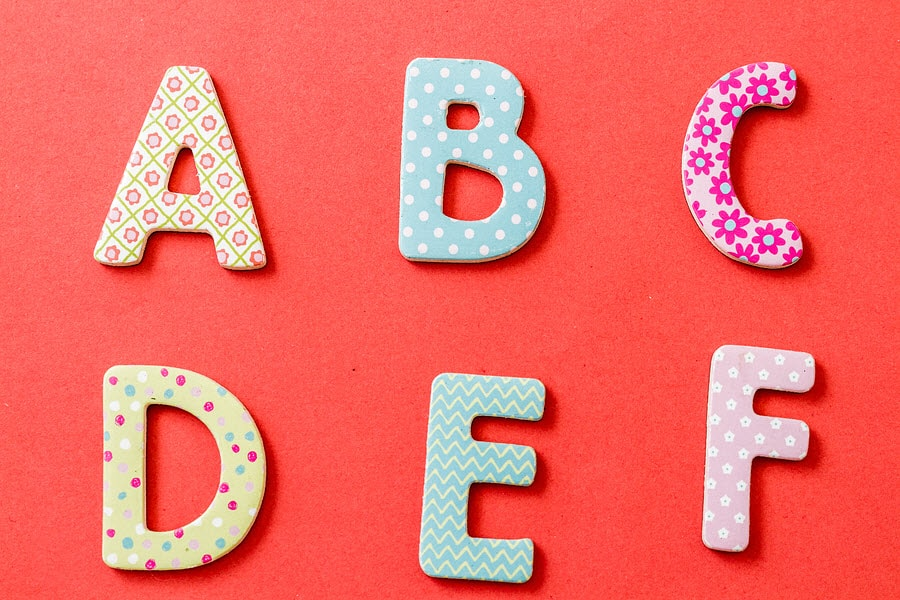 colorful uppercase letters