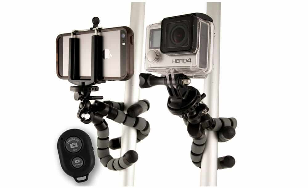 "Flexible ""squid"" tripod for your smartphone or GoPro camera"