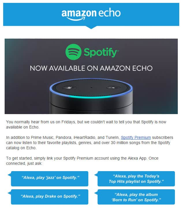 Amazon Echo and Spotify