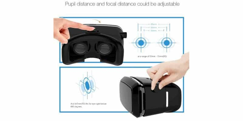BlitzWolf VR Glasses Virtual Reality Headset - pupil and focal distance