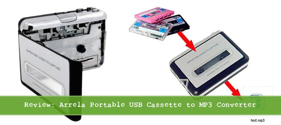Convert your old cassette tapes to MP3 with the Arrela Portable USB Cassette to MP3 Converter