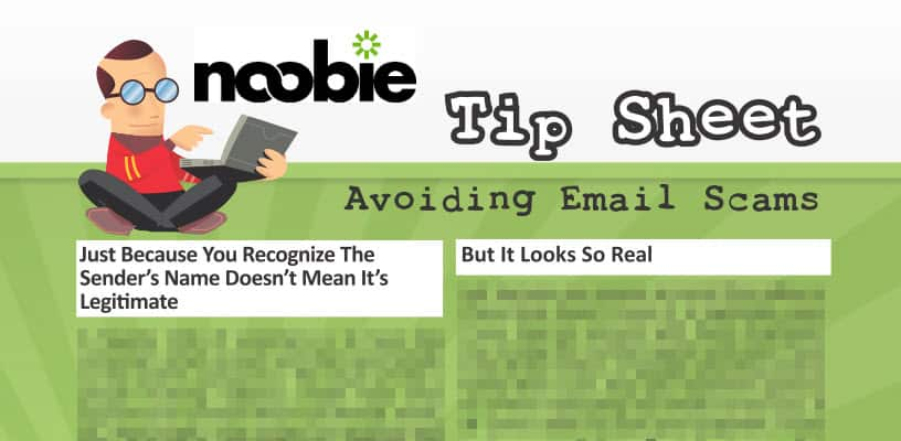 Tip Sheet: Avoiding Email Scams