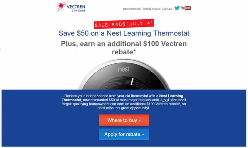 Save $50 on Nest thermostat through July 4