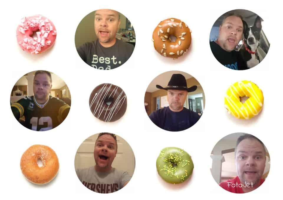 Donuts collage