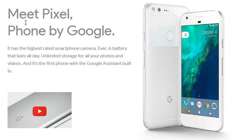 Meet Pixel, Phone by Google