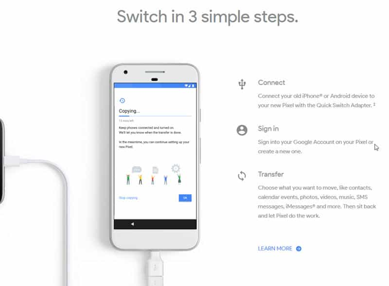 Pixel: Switch in 3 simple steps