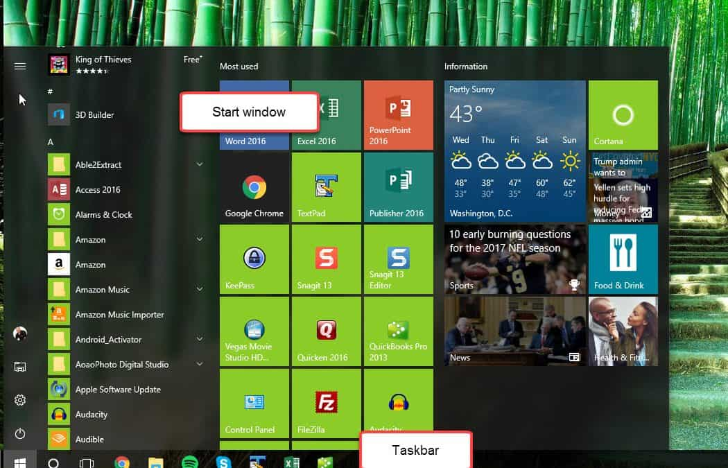 Pin to Start vs. Pin to taskbar
