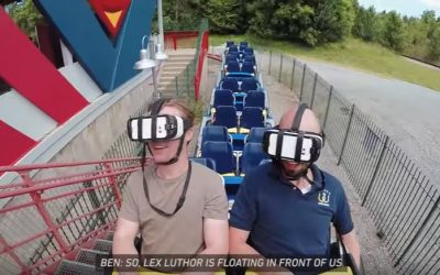 Superman virtual reality roller coaster at Six Flags