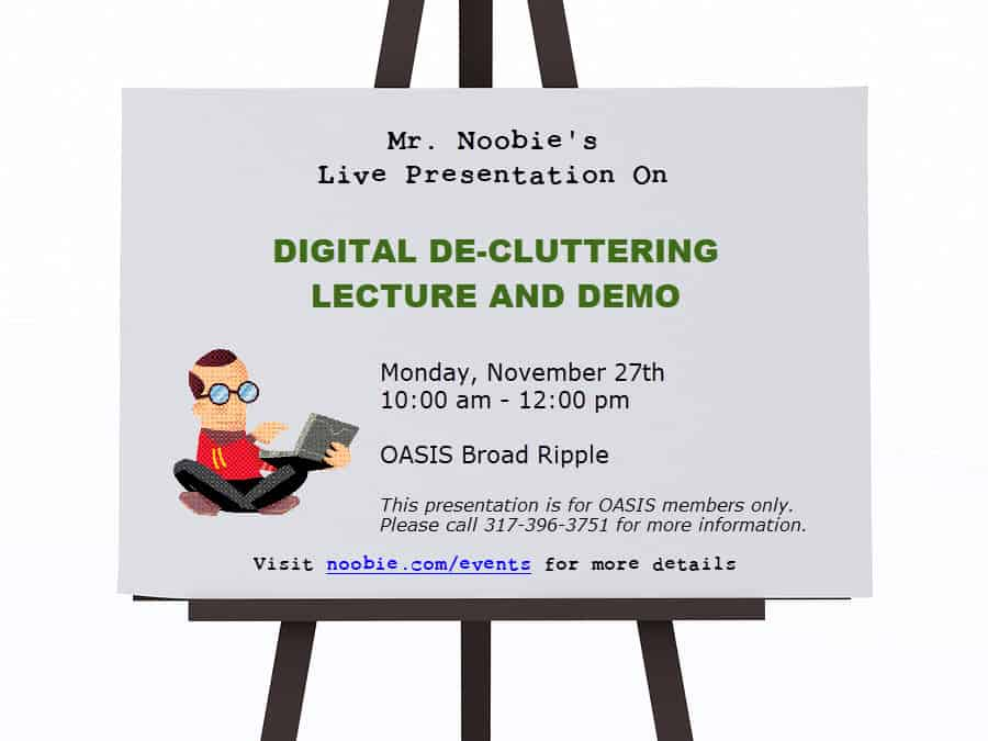 Digital De-Cluttering Lecture and Demo