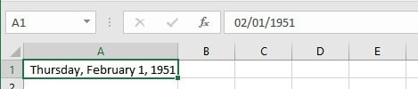 Formatting a Date in Long Date Format | Excel Dates | Entering, Formatting, Today and Now Formulas