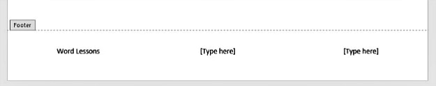 Insert Footer | Word Headers And Footers