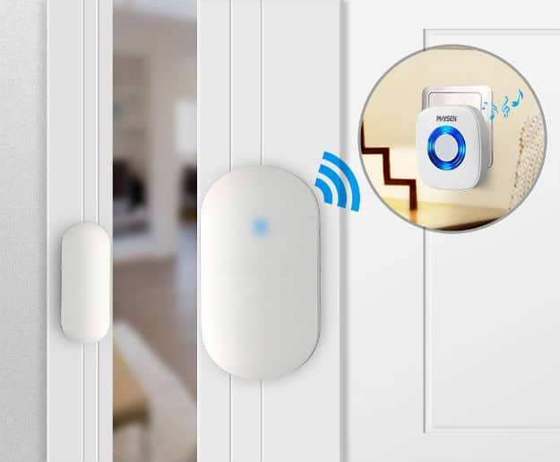 PHYSEN Wireless Door/Window Sensor Chime Kit | 9 Best Automatic Alarm Systems To Protect Your Family | fire alarm system | fire alarm detector