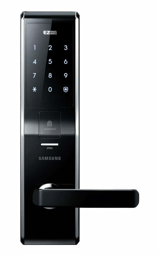 SAMSUNG SHS-H705 Fingerprint Digital Door Lock | 9 Best Automatic Alarm Systems To Protect Your Family | fire alarm system | types of fire alarm systems