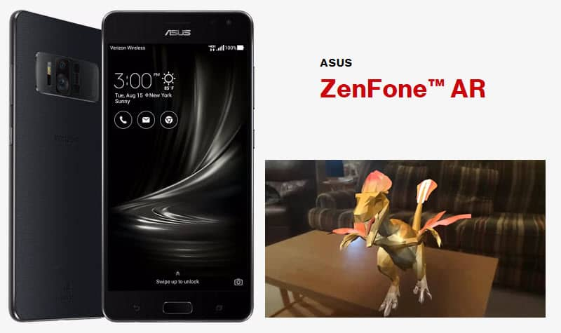 ASUS Zenfone AR with Dinosaurs Among Us app