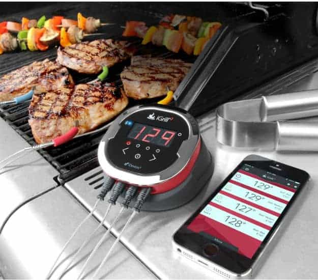 iGrill2 iDevices Wireless Bluetooth BBQ Meat Thermometer | Smart Home Gadgets Perfect As Gifts For Holiday Season