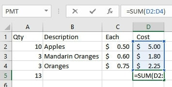 Edit Cells | Excel Format as Table with Total, Sort and Filter
