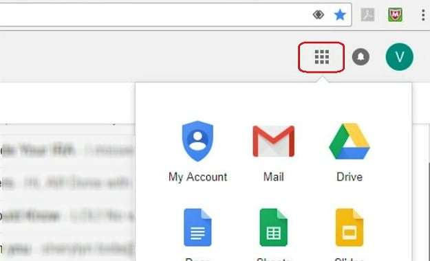In Your Gmail Account, Click on the Tile Icon | How To Delete A Gmail Account | 13 Easy Steps