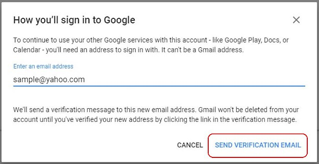 Hit Send Verification Email | How To Delete A Gmail Account | 13 Easy Steps
