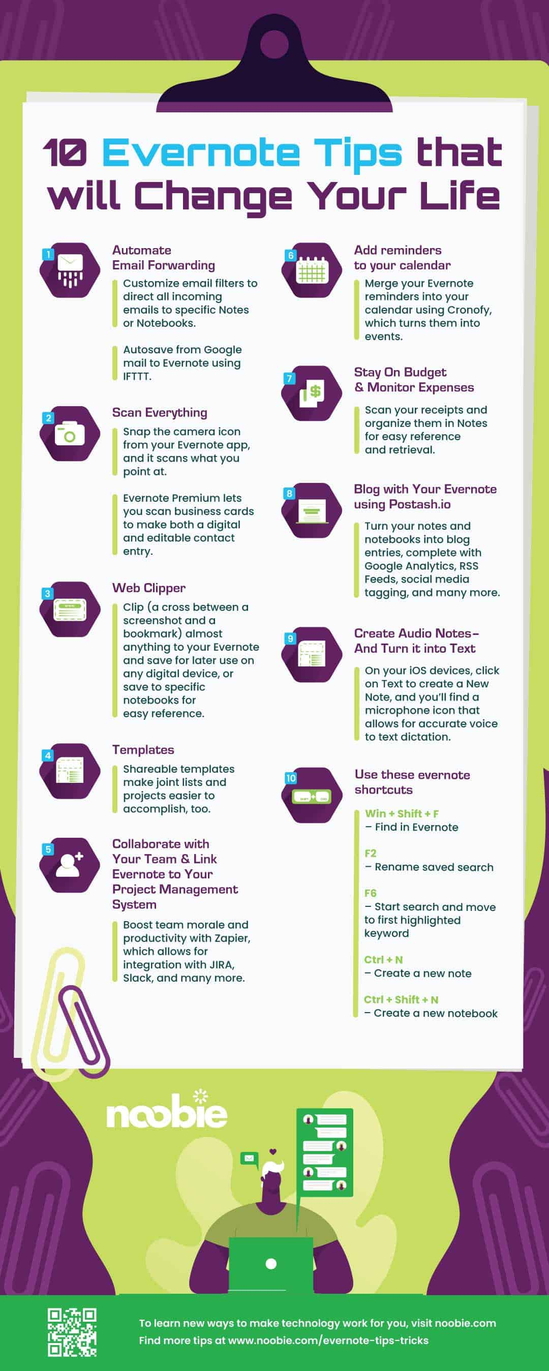10 Evernote Tips & Tricks You Should Master [INFOGRAPHIC]