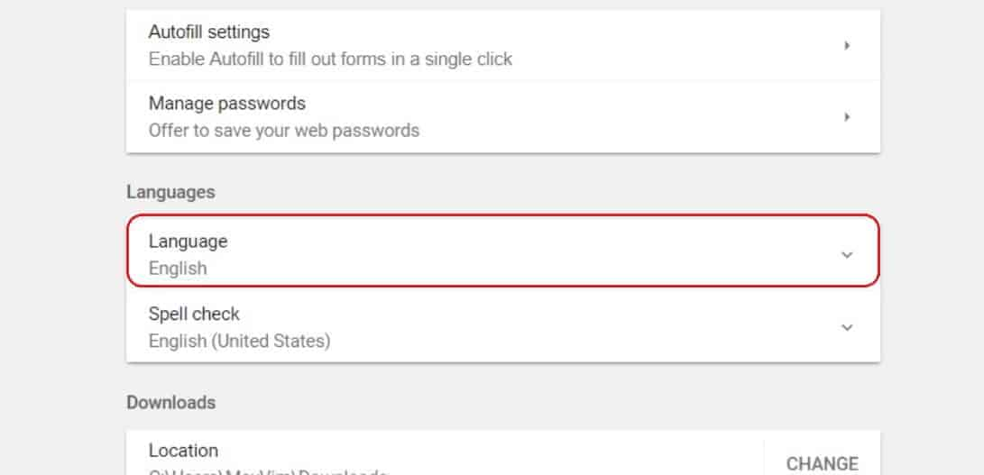 Look for Your Language in the Menu and Click | How To Change Language In Google Chrome