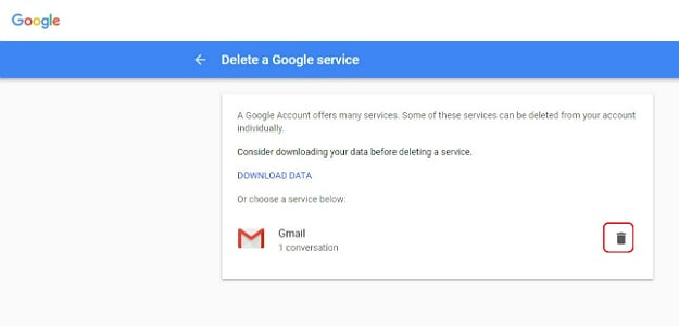 Hit Next and Click the Trashcan Next to Gmail | How To Delete A Gmail Account | 13 Easy Steps