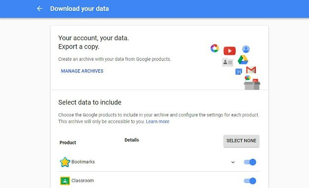Click on the Download Data link to Download All Your Messages | How To Delete A Gmail Account | 13 Easy Steps