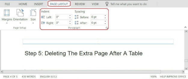 Deleting The Extra Page After A Table | How To Delete A Page In Word
