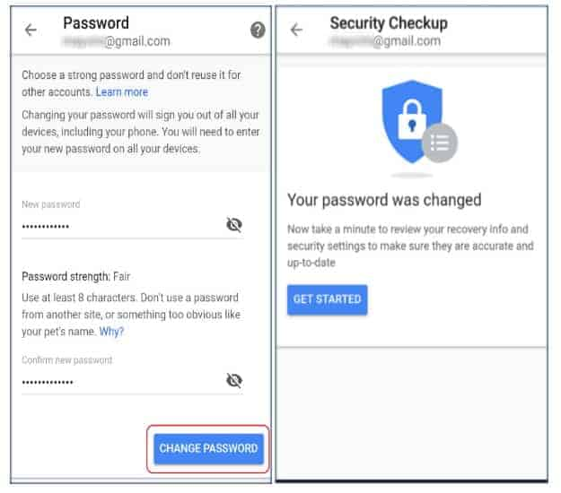 Edit Google Account Details | Gmail: How To Change Password