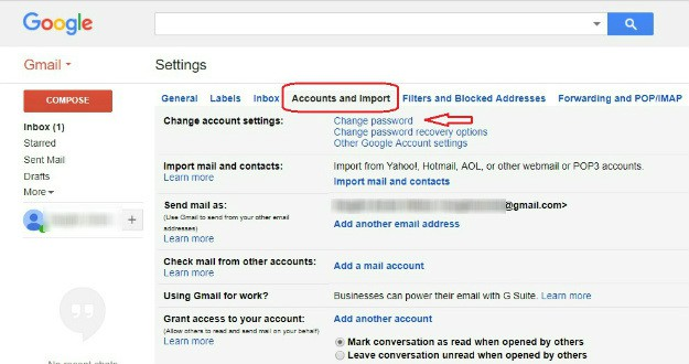 Changing Password On Gmail | Gmail: How To Change Password