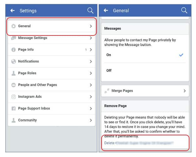 Android facebook settings2 how to delete facebook page noobie deleting facebook page on your android phonetablet how to delete facebook page ccuart Gallery