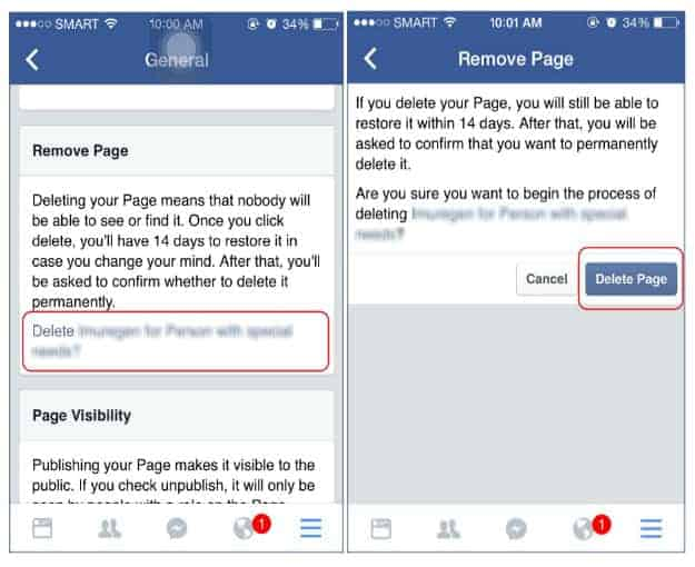Deleting Facebook Page On Your iPhone/iPad | How To Delete Facebook Page