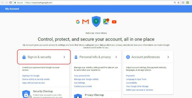 Changing Password Using My Account | Gmail: How To Change Password