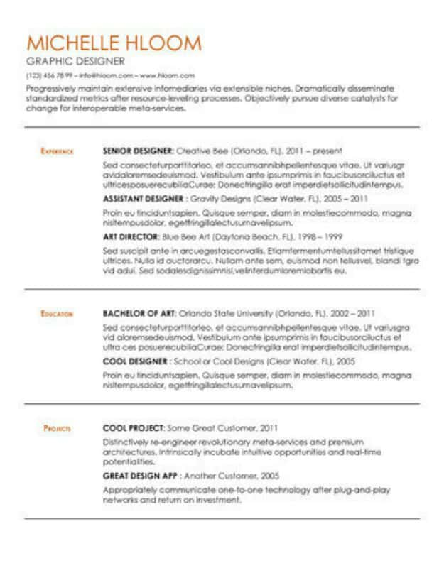Substantial Gdoc | Google Docs Resume Template | Use These 29 Templates to Ace Your Next Interview