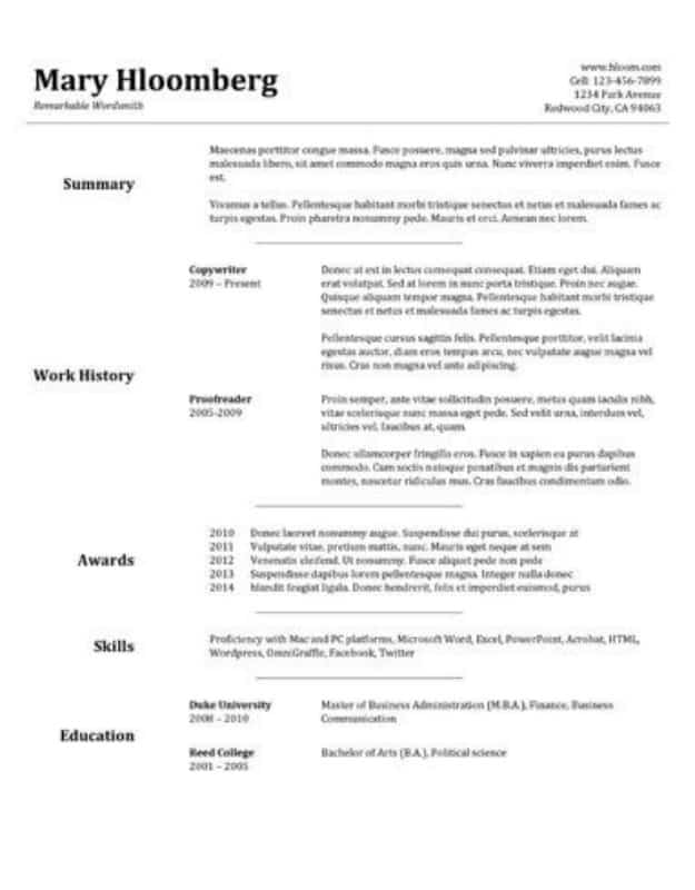 29 Google Docs Resume Template To Ace Your Next Interview
