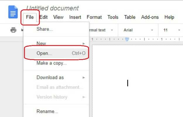 Upload Existing Word File | How To Create A Google Doc In Just 5 Simple Steps