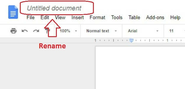 Rename File | How To Create A Google Doc In Just 5 Simple Steps