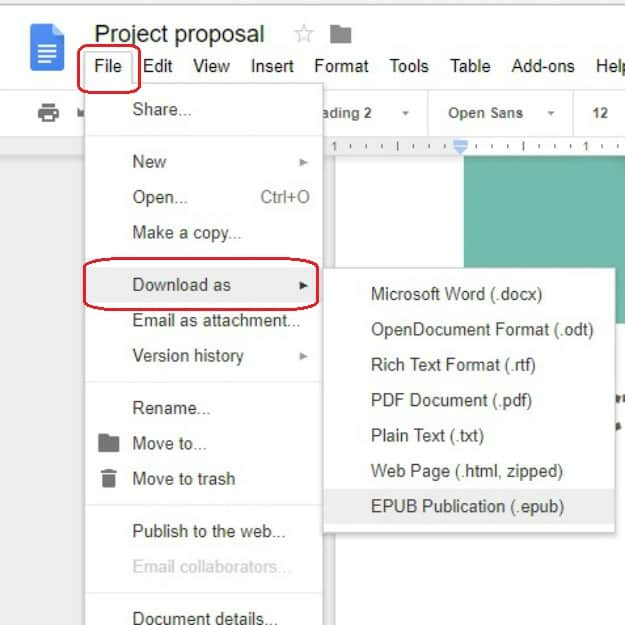 Save File | How To Create A Google Doc In Just 5 Simple Steps