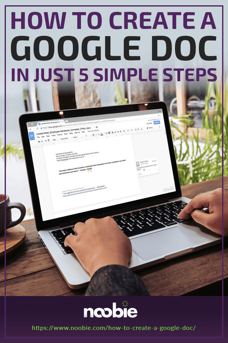 How To Create A Google Doc In Just 5 Simple Steps https://www.noobie.com/how-to-create-a-google-doc/