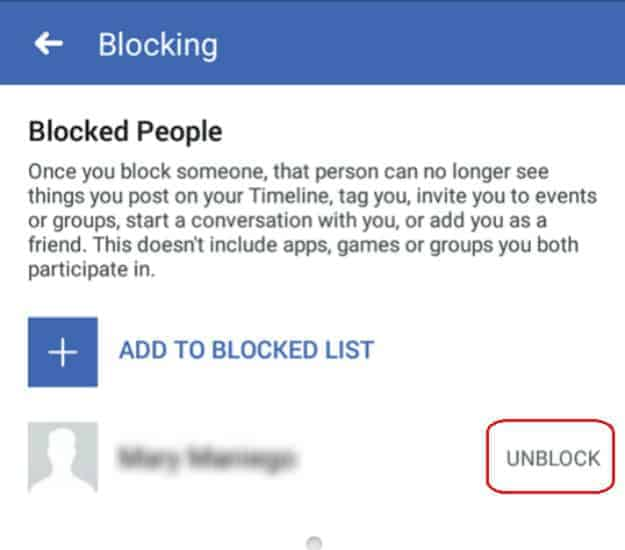 Open Blocked List | How To Unblock Someone On Facebook