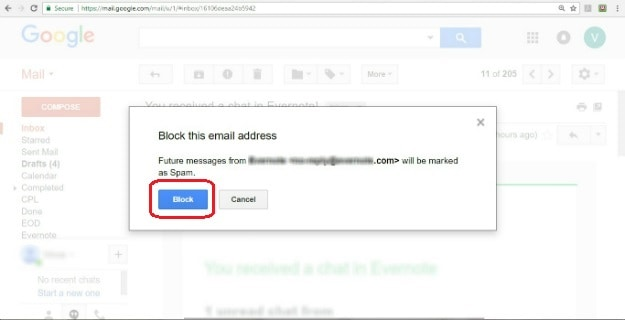 Confirm | How To Block Emails On Gmail