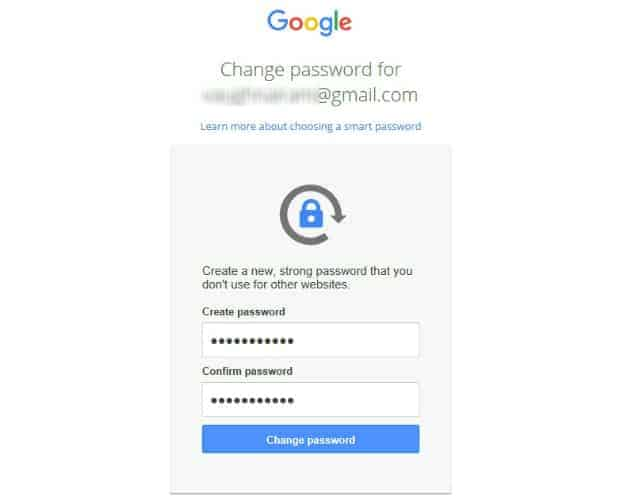 i forgot my gmail password how to change it