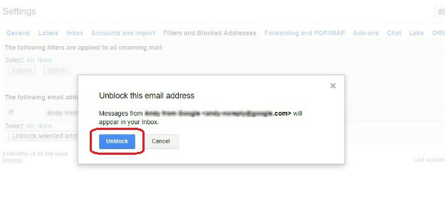 Unblocking A Sender Without A Message | How To Block Emails On Gmail