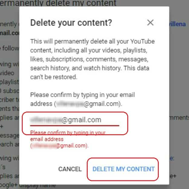Confirm Deletion of YouTube Account | How To Delete A YouTube Account In 7 Steps